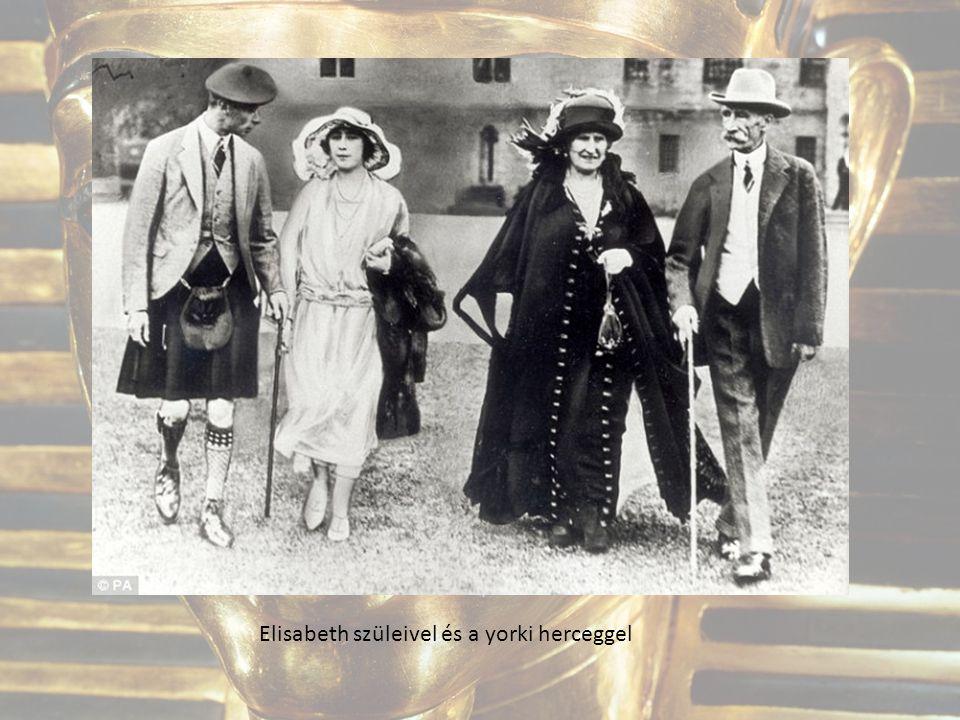Elisabeth szüleivel és a yorki herceggel
