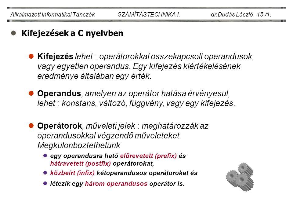 Kifejezések a C nyelvben
