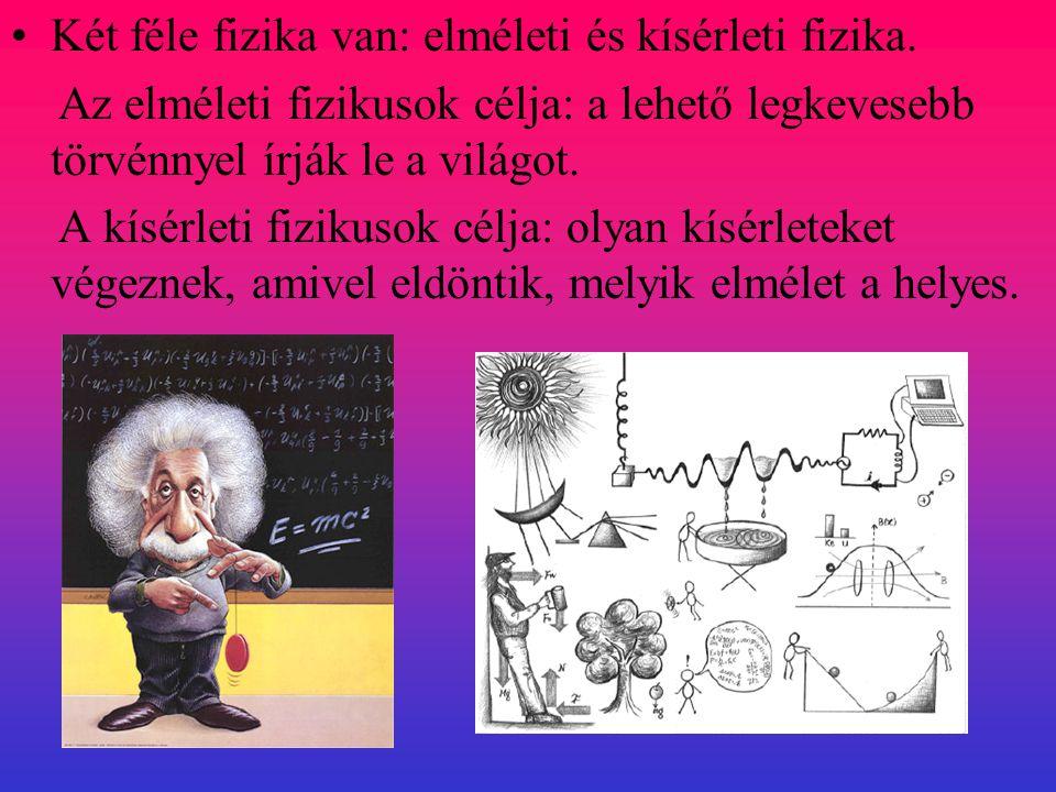 Két féle fizika van: elméleti és kísérleti fizika.