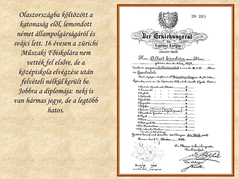 Olaszországba költözött a katonaság elől, lemondott német állampolgárságáról és svájci lett.