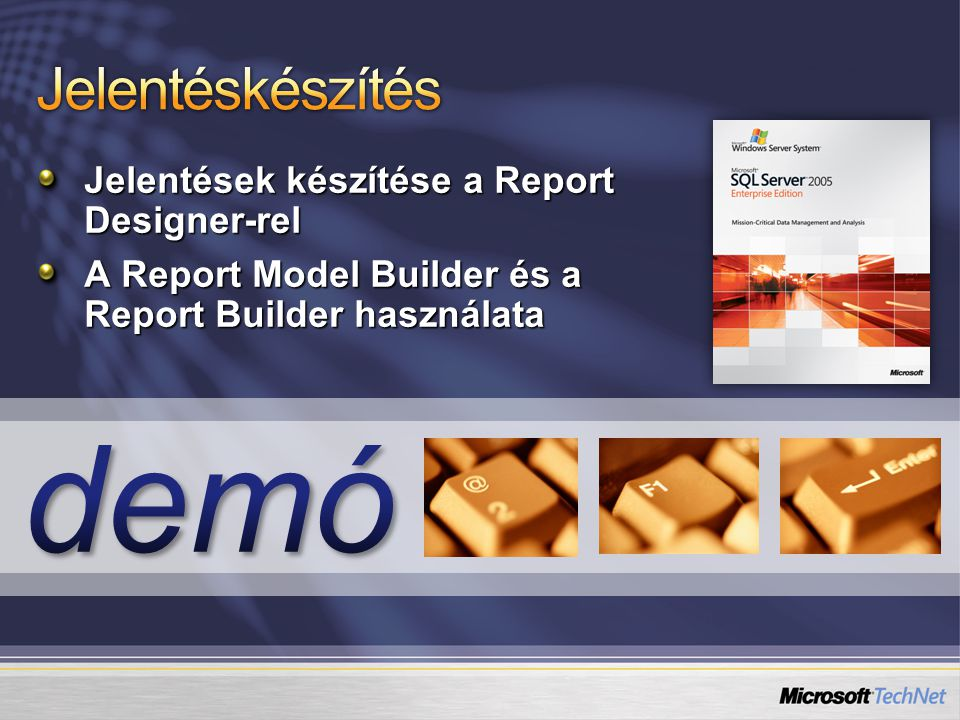 demó Jelentéskészítés Jelentések készítése a Report Designer-rel