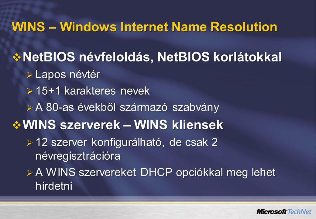 WINS – Windows Internet Name Resolution