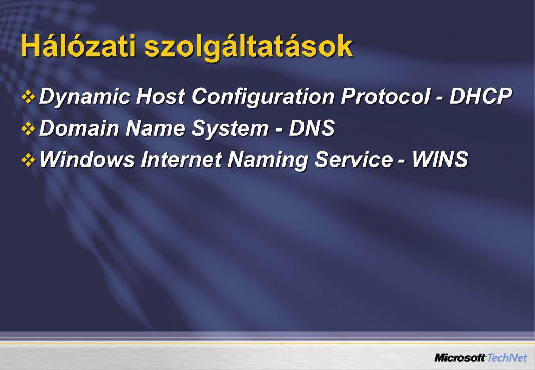 Hálózati szolgáltatások