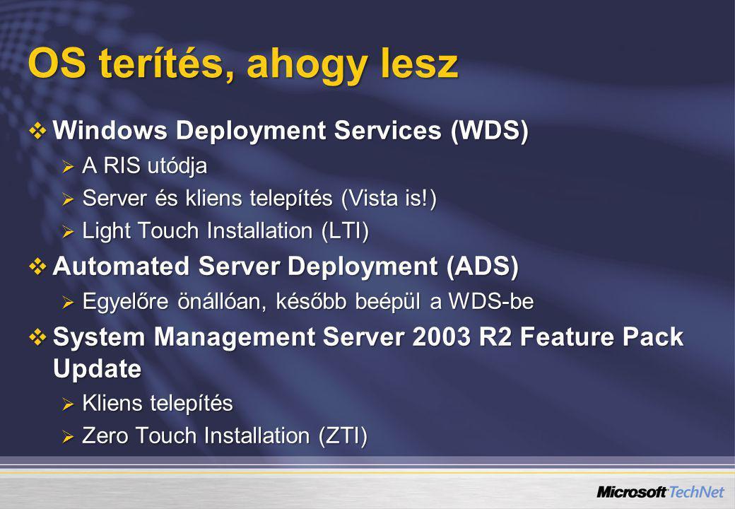 OS terítés, ahogy lesz Windows Deployment Services (WDS)