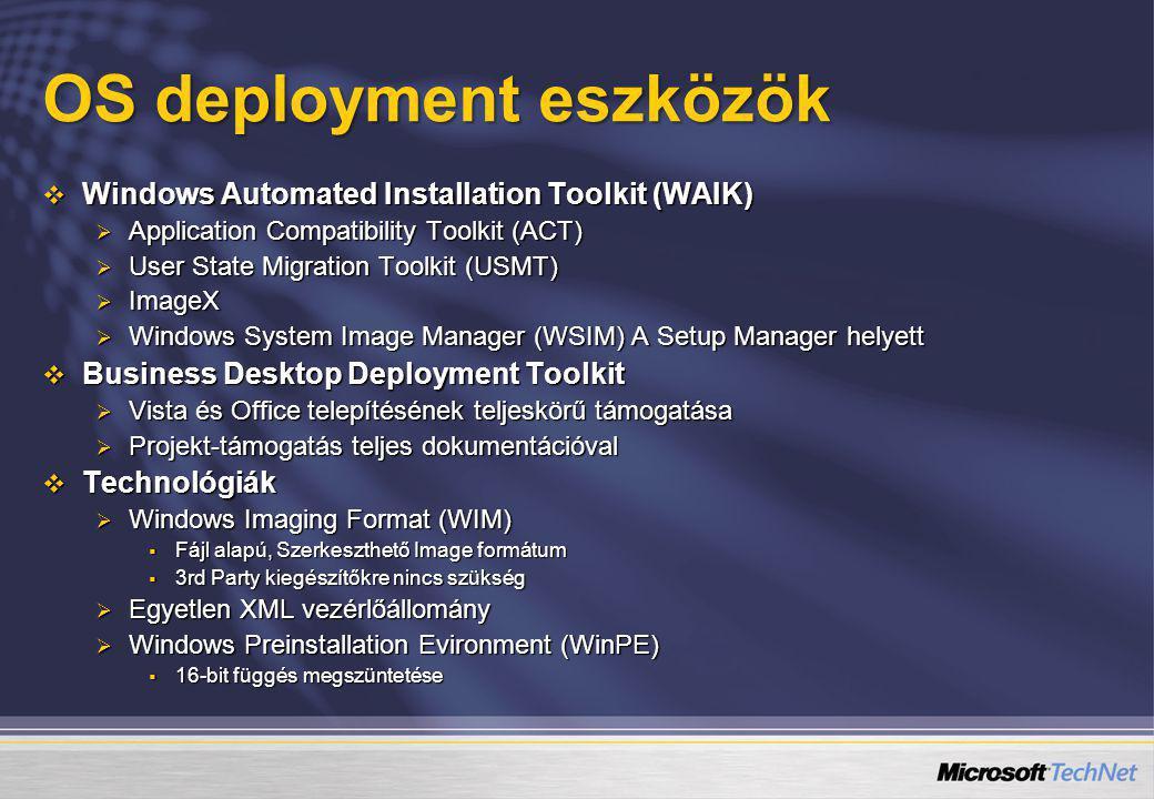 OS deployment eszközök