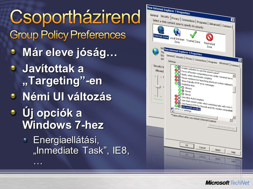 Csoportházirend Group Policy Preferences