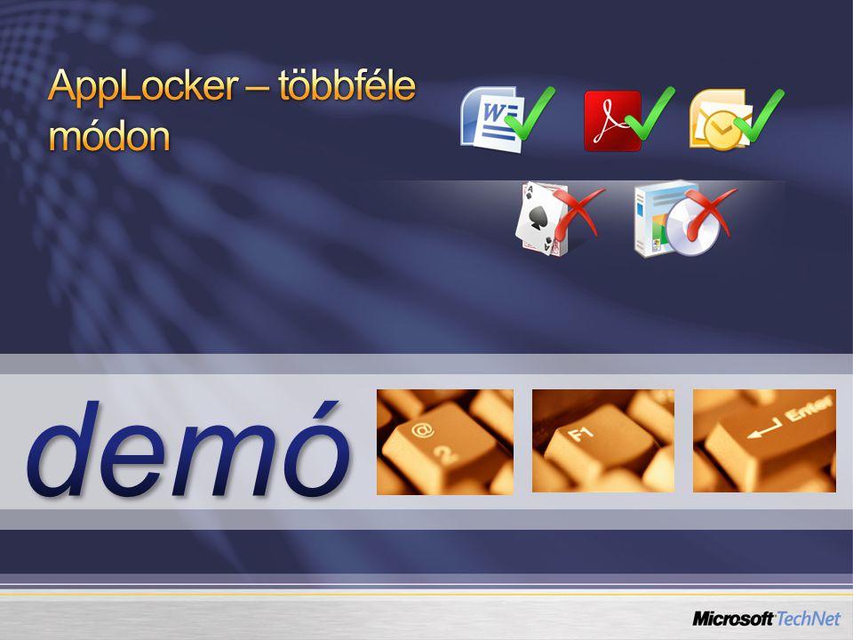 AppLocker – többféle módon