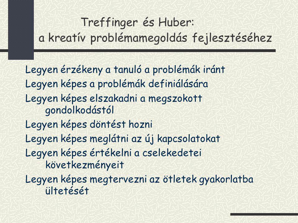 Treffinger és Huber: a kreatív problémamegoldás fejlesztéséhez