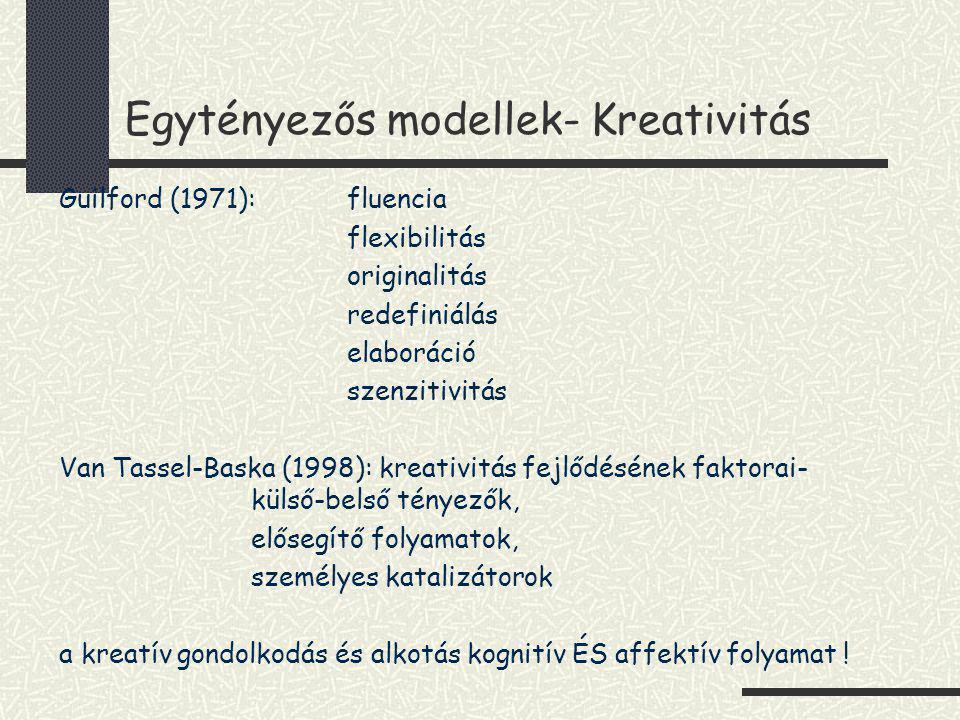 Egytényezős modellek- Kreativitás
