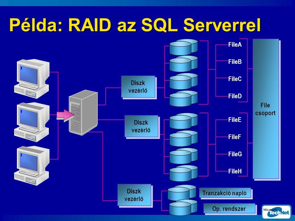 Példa: RAID az SQL Serverrel