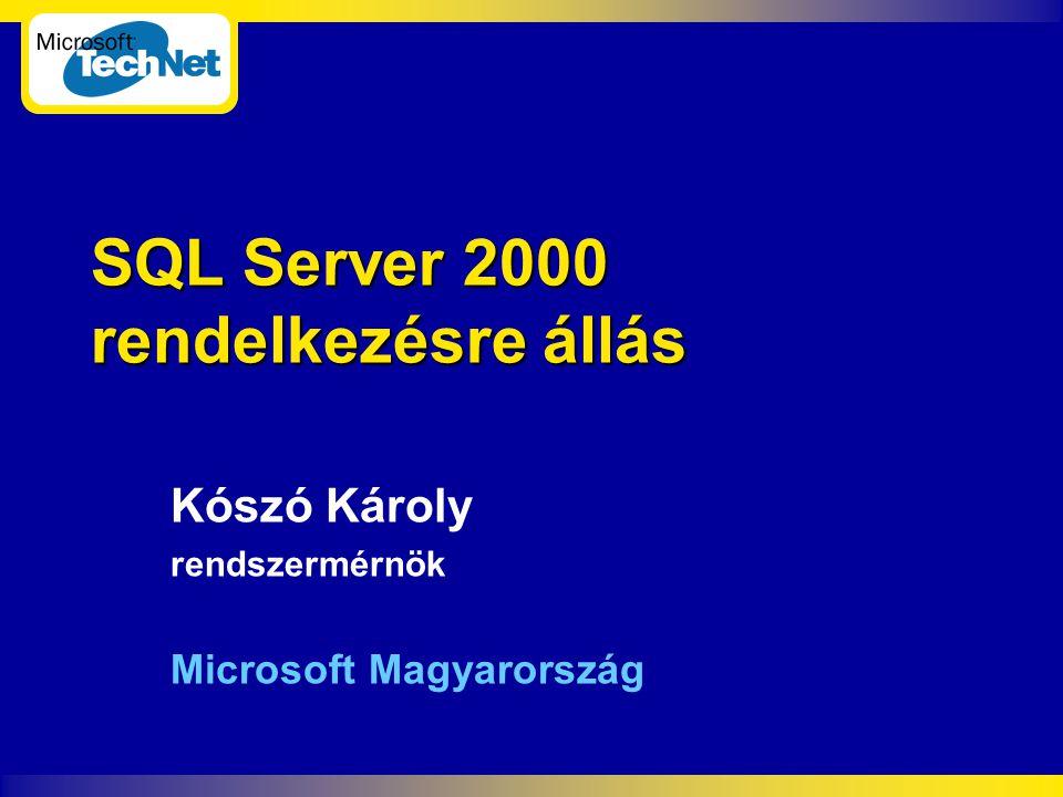 SQL Server 2000 rendelkezésre állás