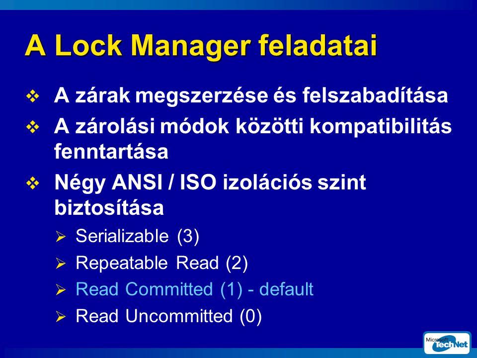 A Lock Manager feladatai