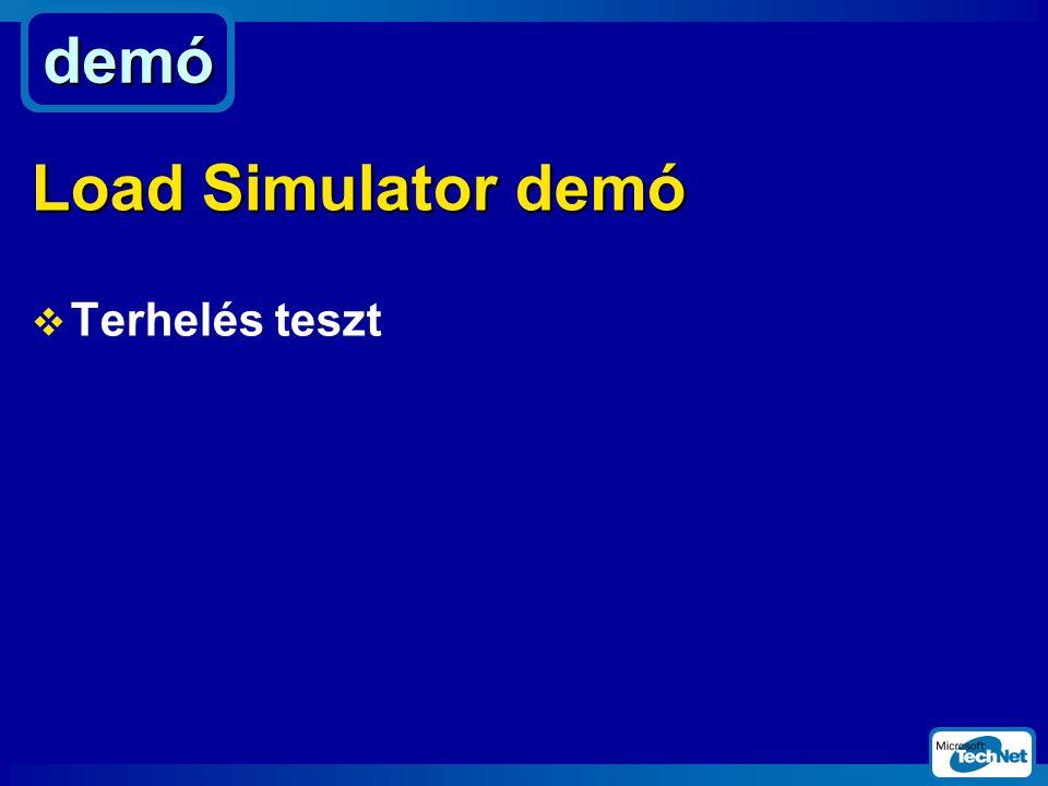 demó Load Simulator demó Terhelés teszt