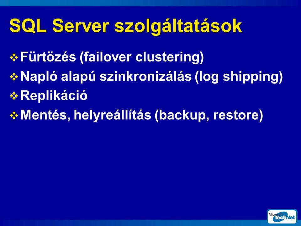 SQL Server szolgáltatások
