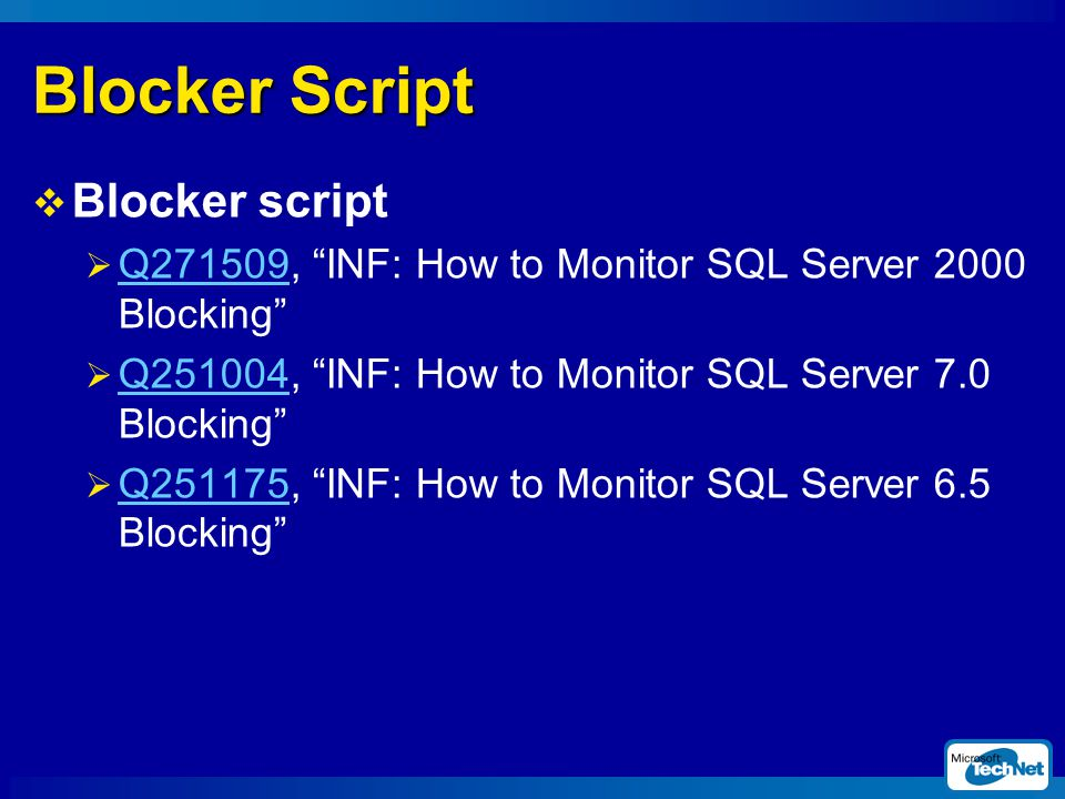 Blocker Script Blocker script