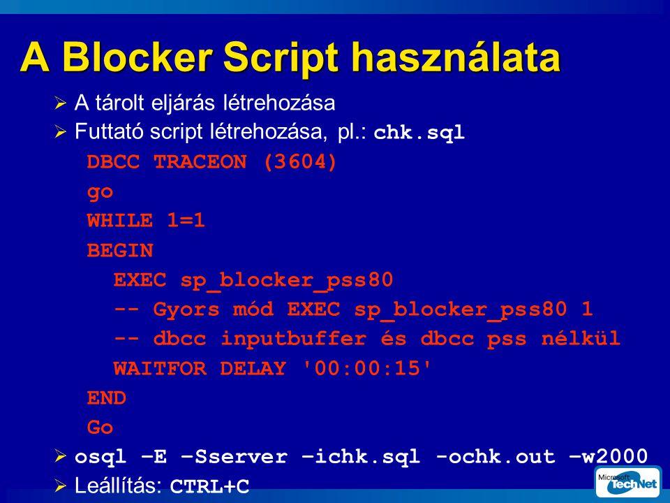 A Blocker Script használata
