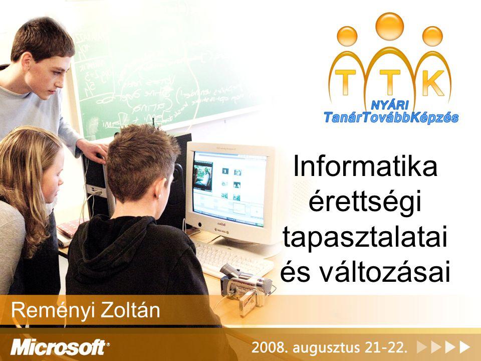 Informatika érettségi tapasztalatai és változásai