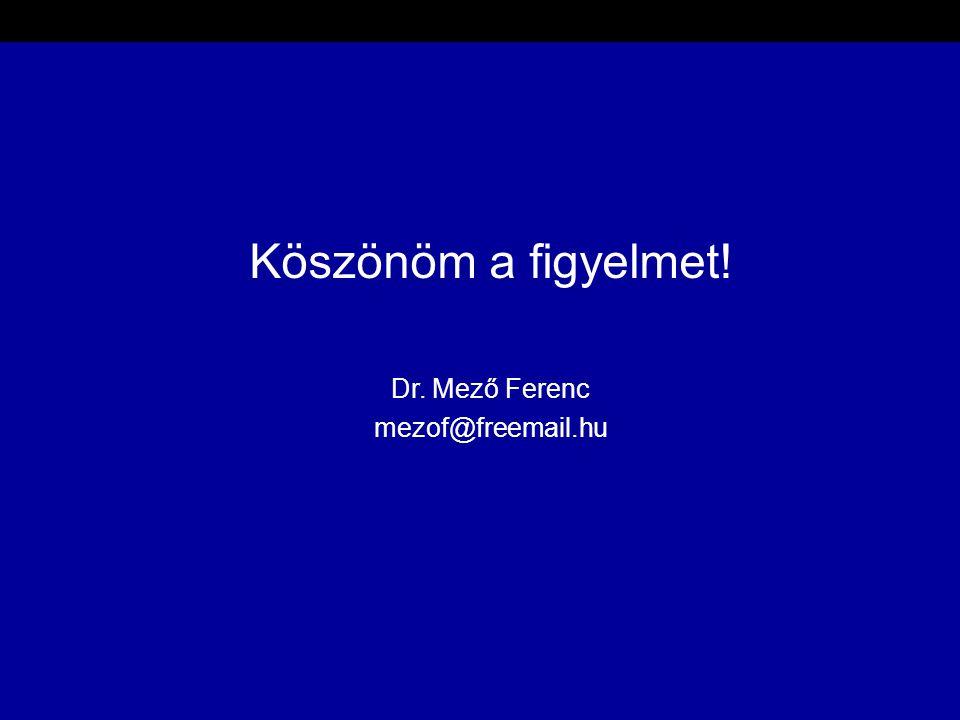 Köszönöm a figyelmet! Dr. Mező Ferenc mezof@freemail.hu