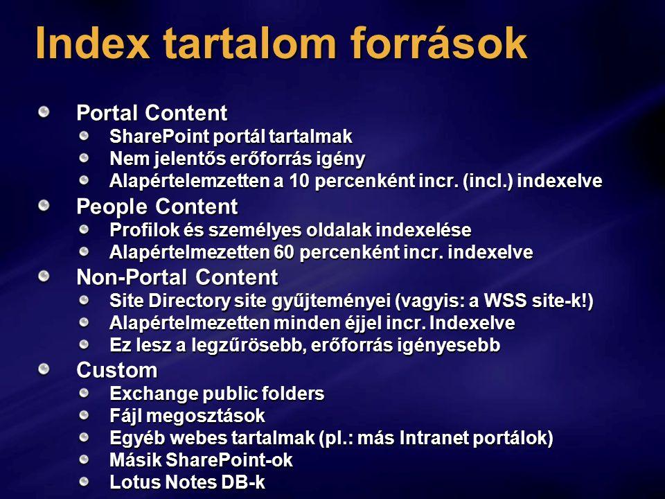 Index tartalom források