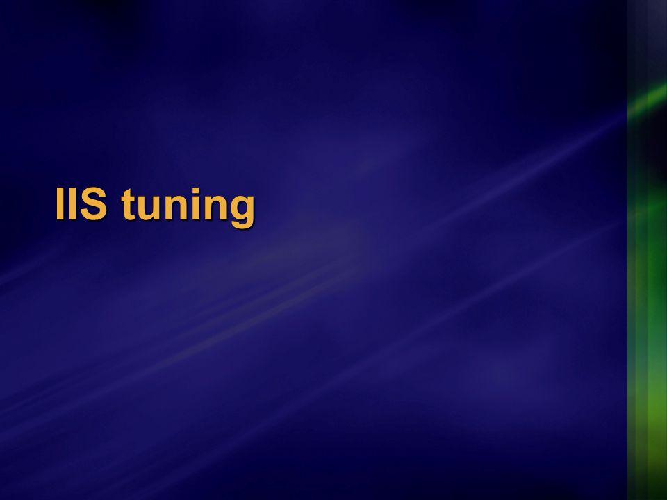 IIS tuning