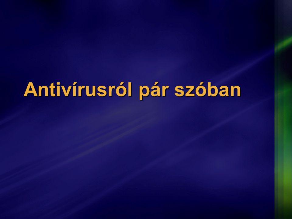 Antivírusról pár szóban