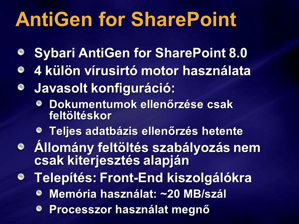 AntiGen for SharePoint