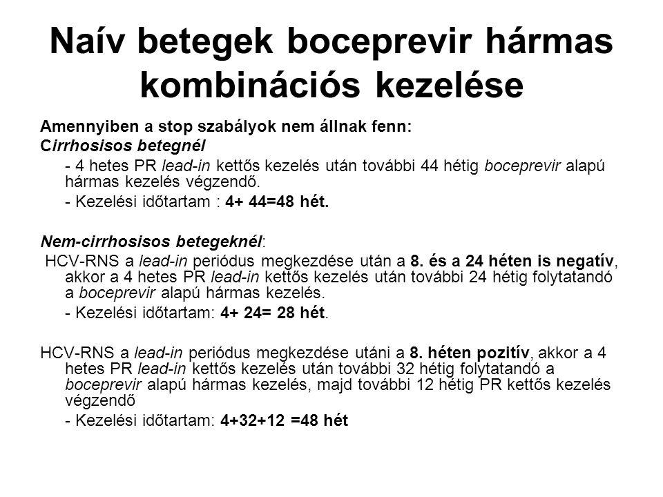 Naív betegek boceprevir hármas kombinációs kezelése