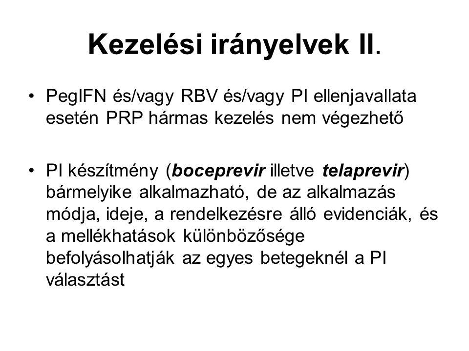 Kezelési irányelvek II.