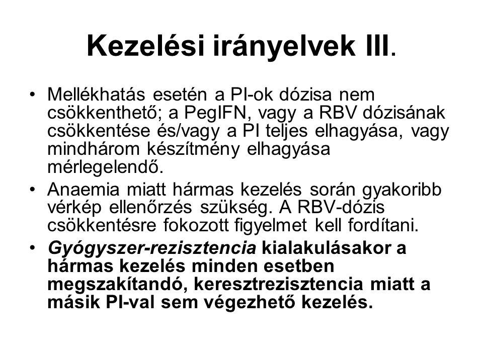 Kezelési irányelvek III.