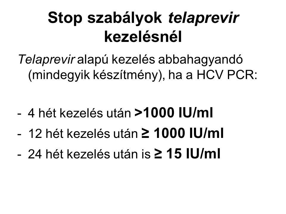 Stop szabályok telaprevir kezelésnél