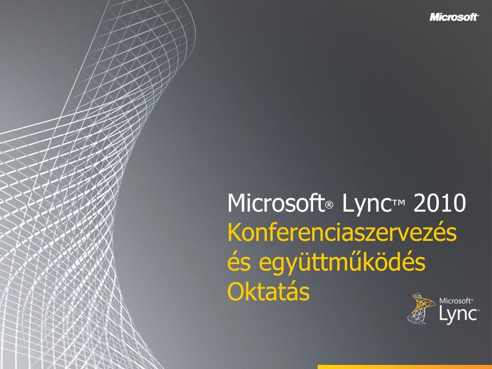 Microsoft® Lync™ 2010 Konferenciaszervezés és együttműködés Oktatás