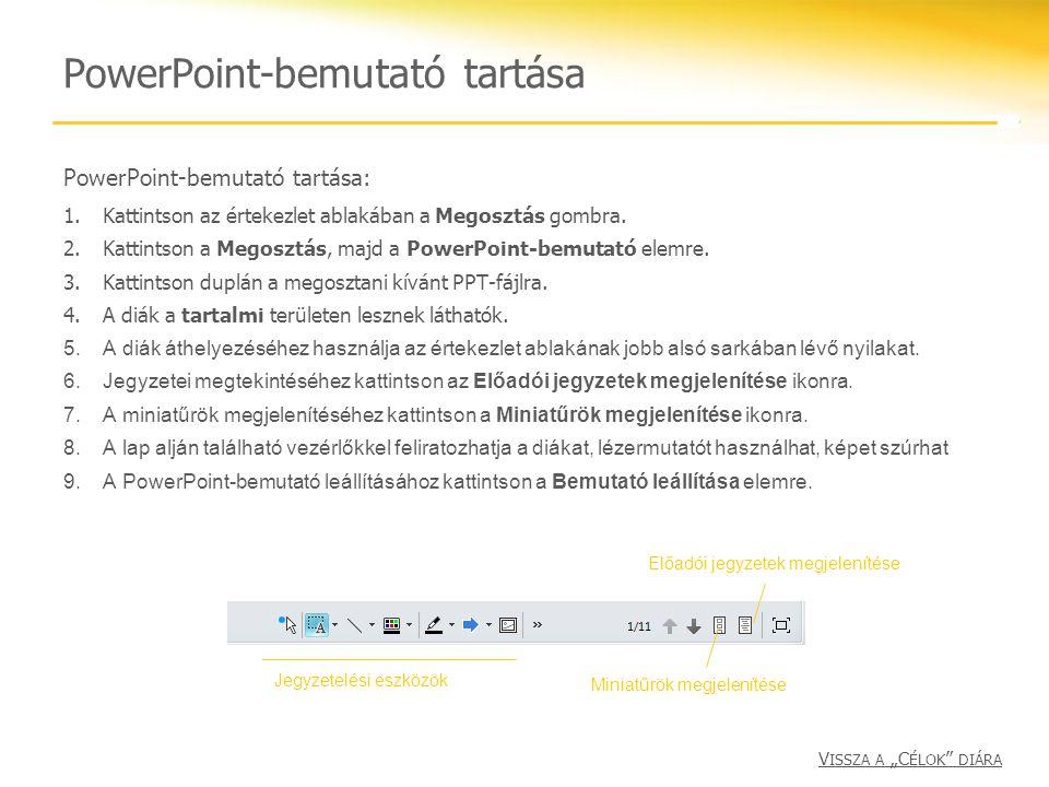 PowerPoint-bemutató tartása