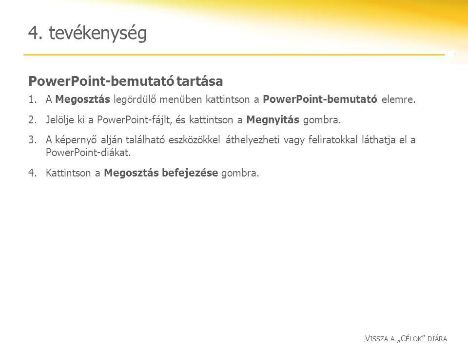 4. tevékenység PowerPoint-bemutató tartása
