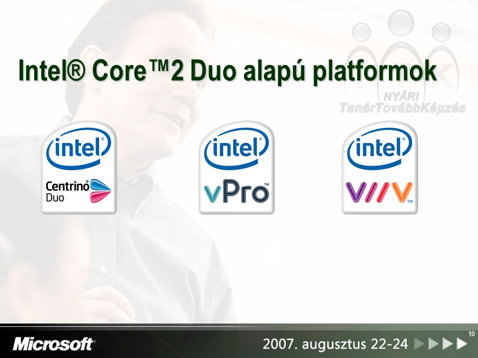 Intel® Core™2 Duo alapú platformok