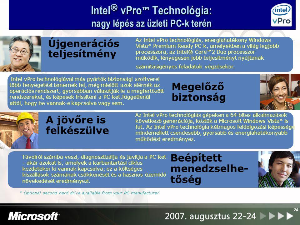 Intel® vPro™ Technológia: nagy lépés az üzleti PC-k terén