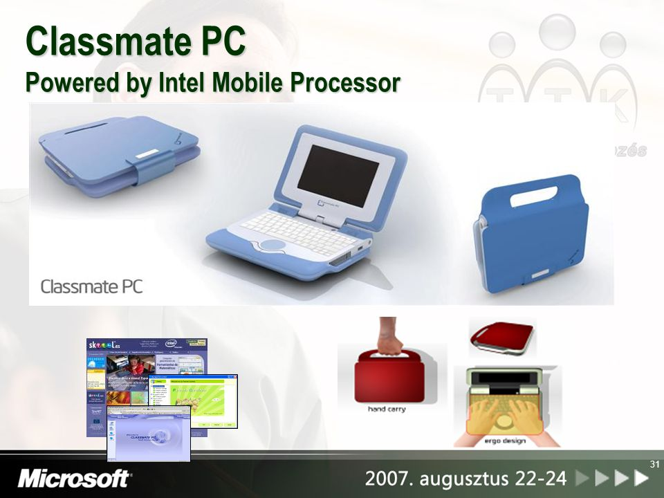 Classmate PC Powered by Intel Mobile Processor