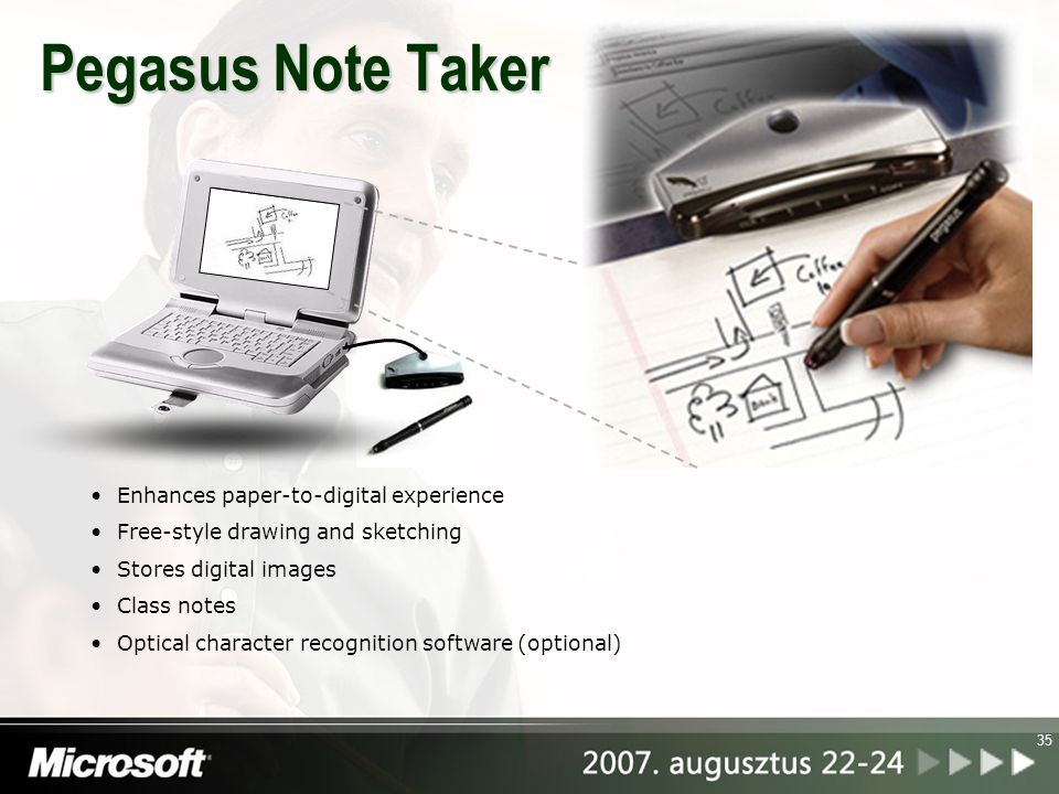 Pegasus Note Taker Enhances paper-to-digital experience