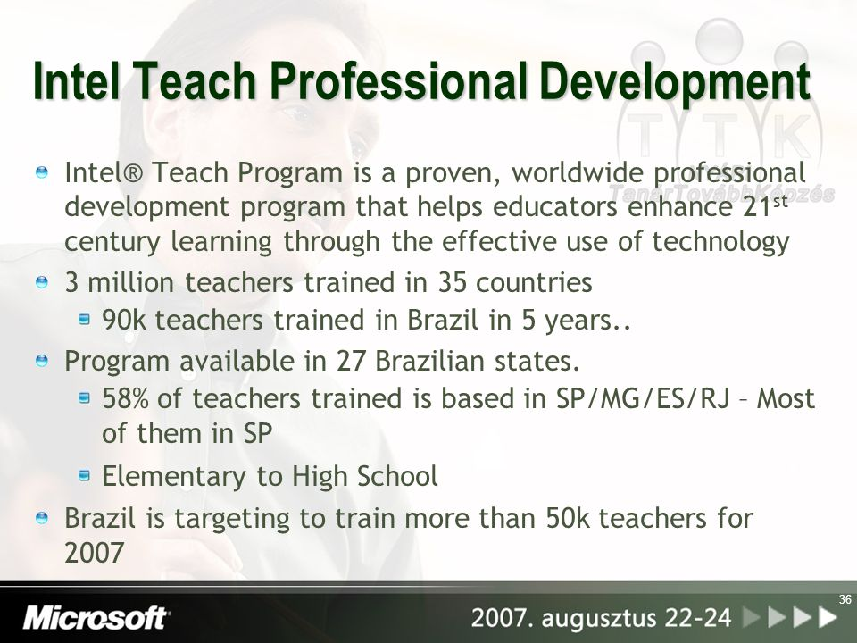 Intel Teach Professional Development