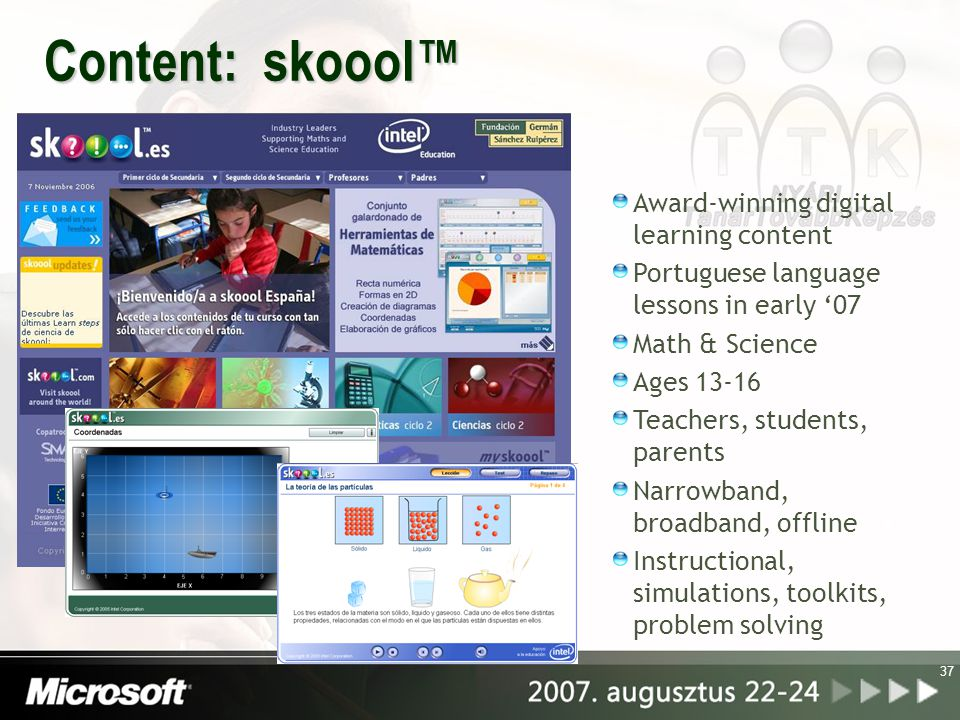 Content: skoool™ Award-winning digital learning content