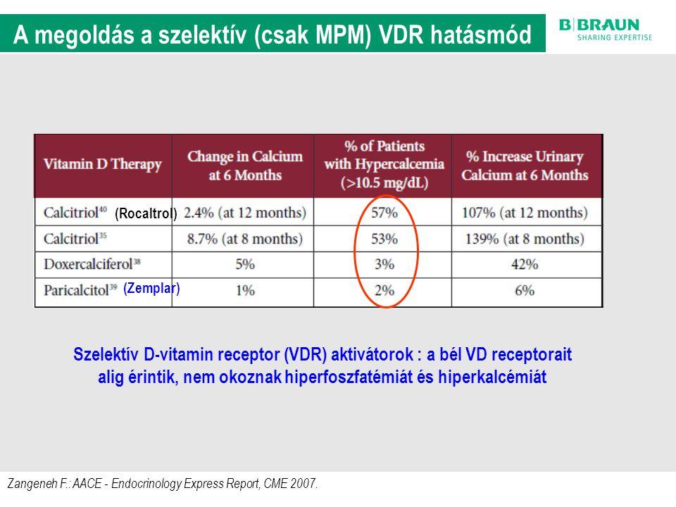 A megoldás a szelektív (csak MPM) VDR hatásmód