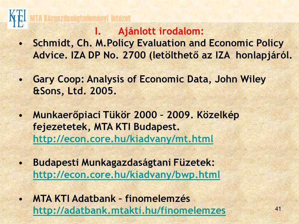 Gary Coop: Analysis of Economic Data, John Wiley &Sons, Ltd. 2005.