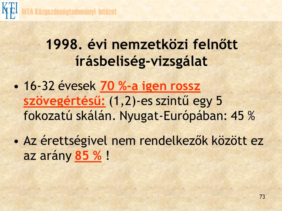 1998. évi nemzetközi felnőtt írásbeliség-vizsgálat