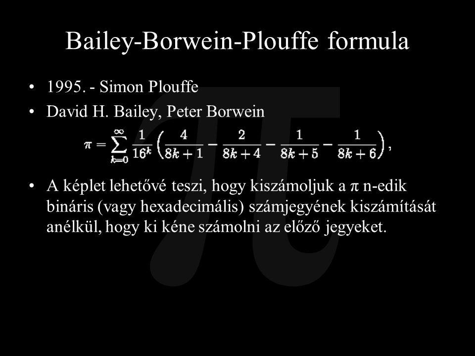 Bailey-Borwein-Plouffe formula