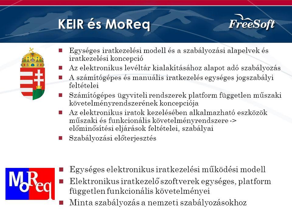 KEIR és MoReq Egységes elektronikus iratkezelési működési modell