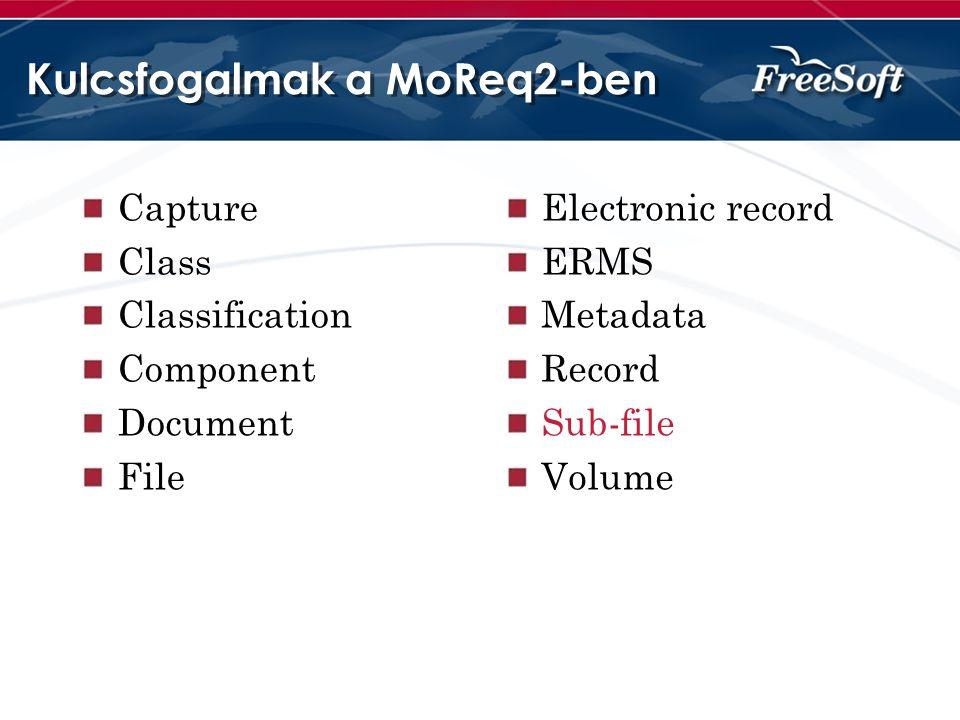 Kulcsfogalmak a MoReq2-ben