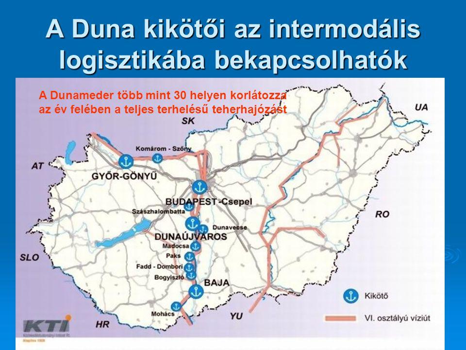 A Duna kikötői az intermodális logisztikába bekapcsolhatók