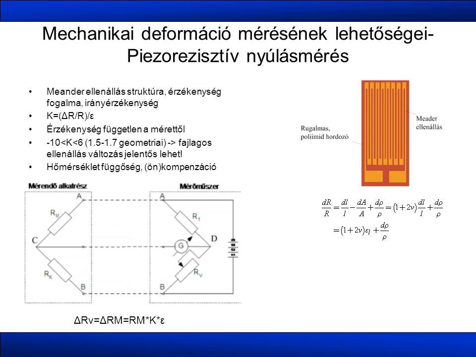 Mechanikai deformáció mérésének lehetőségei-Piezorezisztív nyúlásmérés