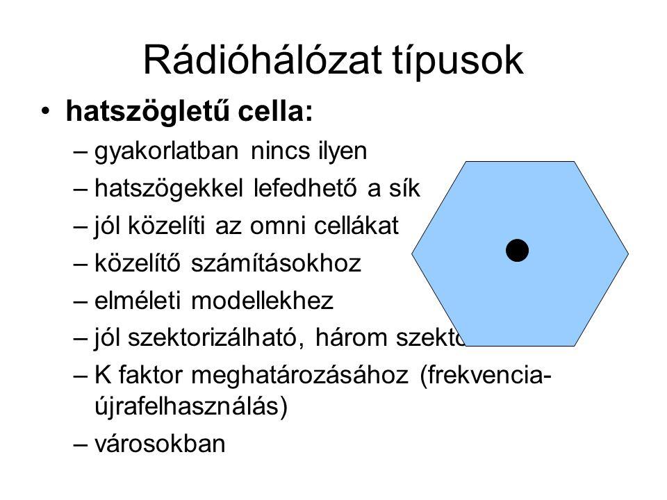 Rádióhálózat típusok hatszögletű cella: gyakorlatban nincs ilyen