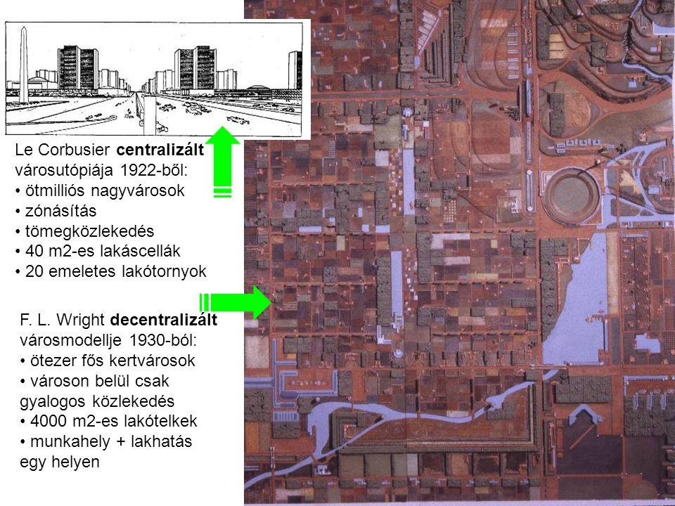Le Corbusier centralizált városutópiája 1922-ből: