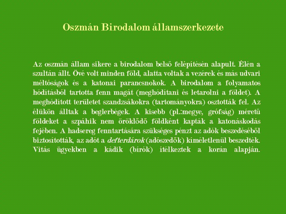 Oszmán Birodalom államszerkezete